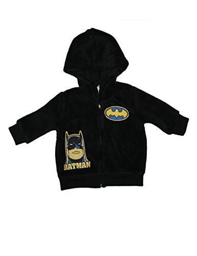 Infant DC Comics Batman Character Zip-Up Polar Fleece Hoodie Jacket 6-9M Black