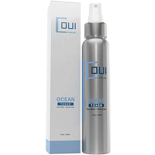 Ocean Facial Toner Face Astringent - Rose Water, Witch Hazel, Alcohol Free - Tighten Pores for Face, Neck, Décolleté