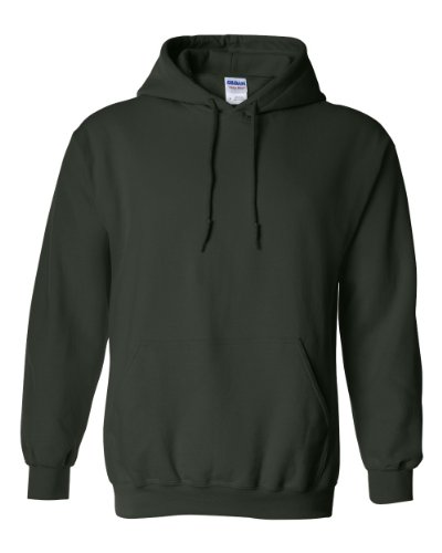 Gildan 18500 - Classic Fit Adult Hooded Sweatshirt Heavy Blend - First Quality - Forest Green - X-Large