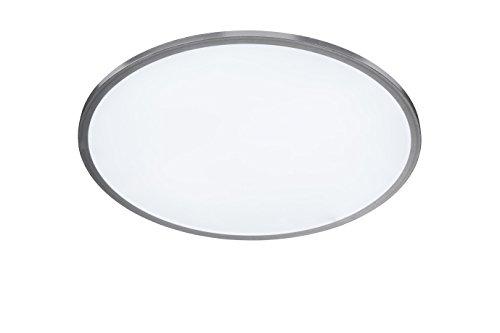 WOFI Deckenleuchte, Aluminium, Integriert, 27 W, Silber, 60 x 60 x 50 cm