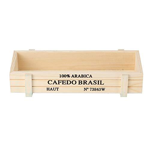 Maceta de madera, maceta suculenta Maceta de planta de interior multifuncional Caja de almacenamiento Cactus suculento Bonsai Maceta Caja Macetas de madera decorativas(Color de madera claro)