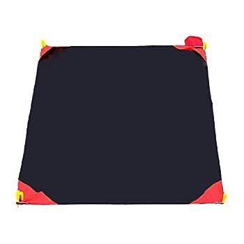TRIWONDER Tapis de Sol Mini Poche Couverture Tapis de Pique-Nique Portable Léger Imperméable Pour Camping Randonnée Voyage Plage (Noir, L - 150 x 180 cm)