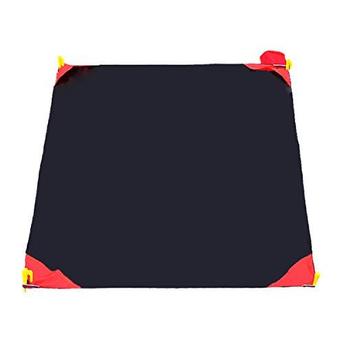 TRIWONDER Manta de Bolsillo Impermeable Plegable Lona Portátil para Picnic Playa Camping Viaje Senderismo al Aire Libre (Negro, M - 110 x 150 cm)