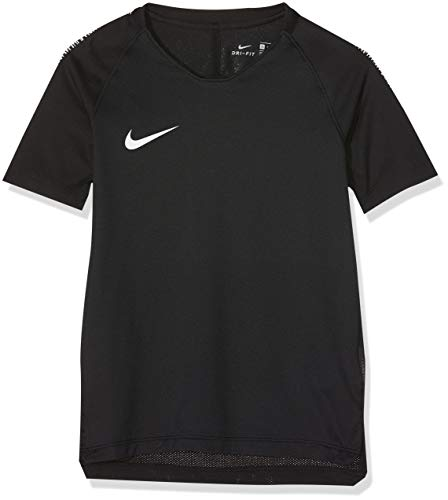 Nike Jungen Breathe Squad T-Shirt, Black/White, M