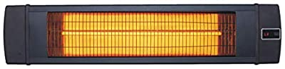 Hanover HAN1041IC-BLK-34.6 in Modern Efficient Steel Electric Heater-3 Heat Settings, Up to 1500W, Black