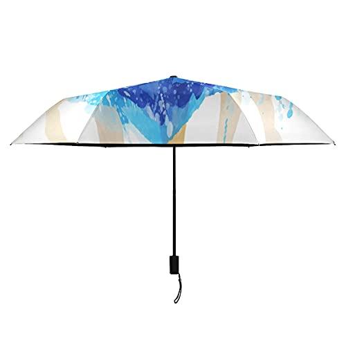 Paraguas para niños, elegante, bailarinas para niñas y niñas, paraguas portátil, ligero, resistente al viento, paraguas de viaje, compacto, sol, lluvia, perfecto para niños, paraguas plegable