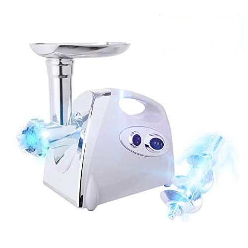 Electric Meat Grinder Stainless Steel Meat Mincer Enema Machine & Sausage Stuffer Meat Machine Sausage Maker Food Processing Machine With 4 Knife Meshes White