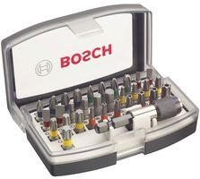 Bosch Professional 2607017319 Profesional PRO Screwdriver Bit, Silver, 13cm x 6.7cm x 4.5cm, Set of 32 Pieces