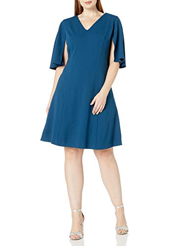 Adrianna Papell Women's Knit Crepe Plus Size Dress