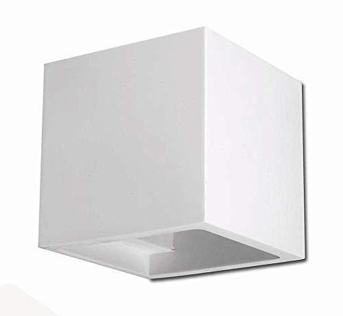 QUADRO Applique Lampada A Parete Cubetto Decorabile In Ceramica Colorabile Verniciabile- Linea Ceramica- Illuminazione Interni