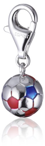 ESPRIT Charm Football RED/White/Blue 925 Sterling Silber S.ESZZ90466D000