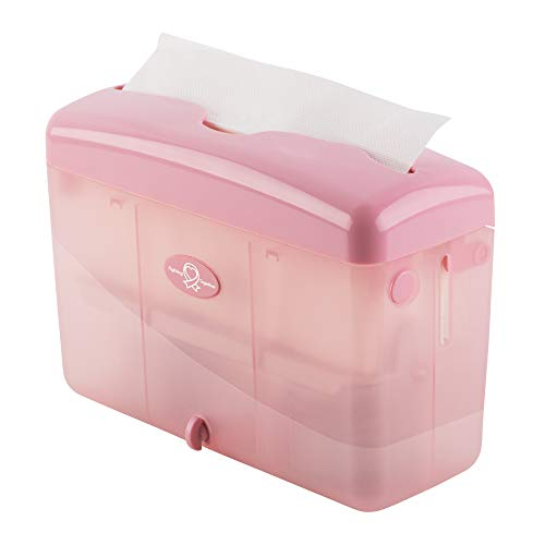 "EZ-PUll Countertop Slimfold Paper Dispenser, 9"" x 3.5"" x 6"", Pink"