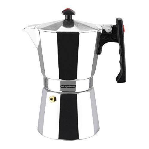MAGEFESA Colombia – La cafetera MAGEFESA Colombia está Fabricada en Aluminio Extra Grueso. Pomo y Mangos ergonómicos de bakelita Toque Frio. (Aluminio, 3 Tazas)