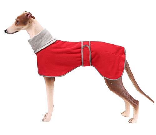 Jersey de forro polar para perro, para Galgo, cálido, acogedor, ropa para perros para usar al aire libre, con bandas ajustables, para perros medianos y grandes