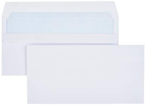 Amazon Basics Selbstklebende Briefumschläge, DIN LANG, weiß, 100 g/m², 500 Stück