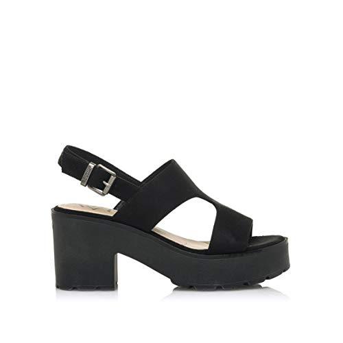 mustang Damen 50891 Sandale, Tritt 12b schwarz bei, 40 EU