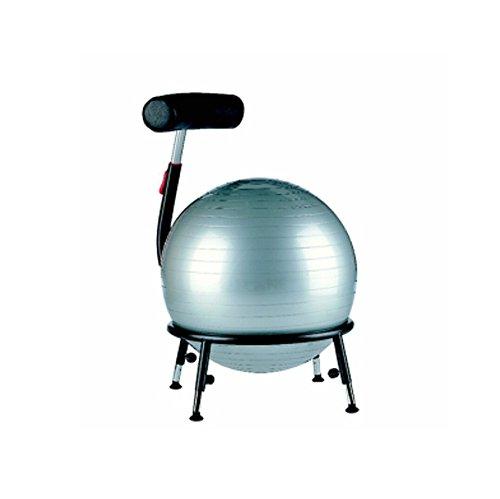 Sitzball-Stuhl Pallone 2 - mit Gleitern silber