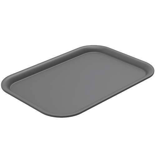 Rotho Brisen Deckel für Aufbewahrungsbox 4,5 - 7l, Kunststoff (PP) BPA-frei, anthrazit, (26,5 x 18,5 x 1,2 cm)