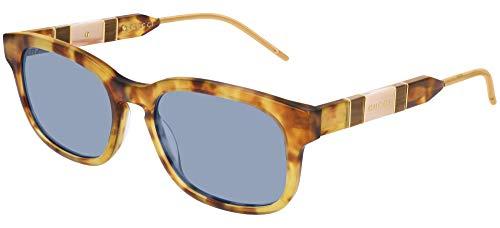 Gucci Gafas de sol GG0602S 004 Gafas de sol Hombre color Azul Habana tamaño de lente 55 mm