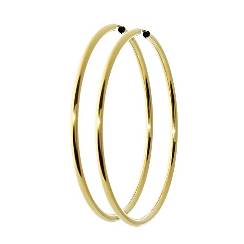 NKlaus Paar 333 Gold gelbgold Creolen Ohrringen Ohrschmuck rund Goldohrringe 60mm 9019