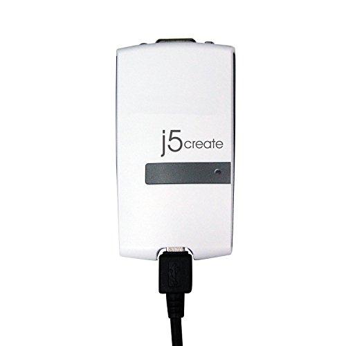 J5Create J5 ccblk JUA190 VGA - USB 2,0 Externo Tarjeta gráfica e, Negro, Blanco