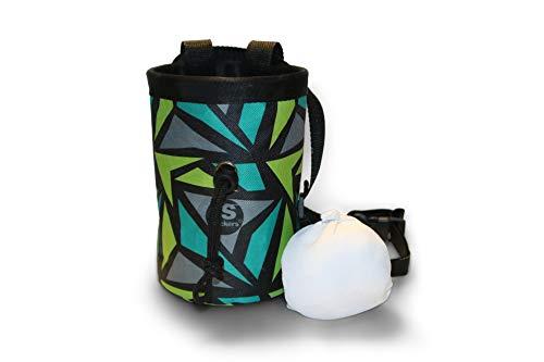 Slackers Chalk Bag – Strapazierfähige Kletter-Kreidetasche – Ideal für Gymnastik, Bouldern, Gewichtheben oder Training wie ein Ninja-Krieger – Perfekt für den Innen- und Außenbereich