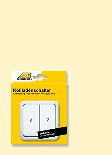 Schellenberg 25006 Rollladenschalter Doppel-Wippschalter zur Unterputzmontage, Einbautiefe ca. 30 mm