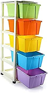 Carty Plastic Extra Large Multi-Purpose Modular Drawer Rack Storage Portable and Foldable System Organizer for Home| 3.14 ...