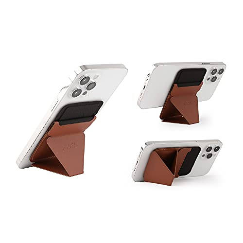 MOFT The First Snap-On Magnetic Stand & Wallet for iPhone 12 (Sienna Brown)