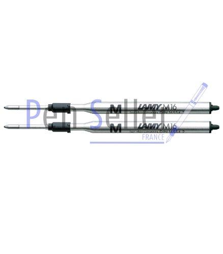 Lamy: Großraum-Kugelschreibermine M16: Farbe: schwarz, Strichbreite: F, 2er-Set.