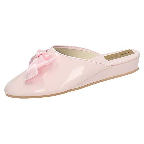 MADE IN SPAIN 15696 Zapato Rosa Charol Mujer