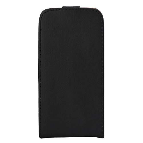 SAHUD Funda Folio de Cuero Caso de Cuero del tirón Vertical Bolsa de Cintura con la Hebilla magnética, for Galaxy J3 (2016) / J320 / J3109 (Color : Negro)