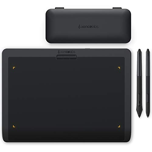 XENCELABS, Tableta Gráfica, Tableta de Dibujo Inalámbrica con 2 Lápices Digitales sin Batería, Lápiz Óptico con Soporte de Lnclinación