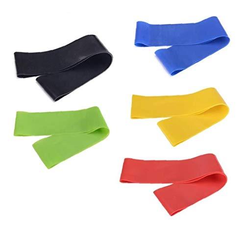 Zonster Equipo De Yoga Elástico Venda del Ejercicio De Entrenamiento De Goma del Ampliador Aptitud Loop Training Color Azar