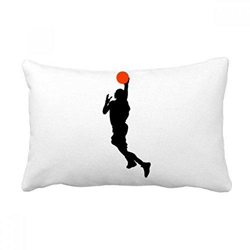 DIYthinker Capa de almofada para jogador de basquete Sports Slam Dunk Capa de almofada para decoração de casa