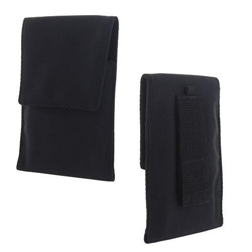 XiRRiX Handy Hülle - Etui Tasche 2XL-2 passend für Samsung Galaxy A70 A70s A71 A80 A90 / Note 10 Lite/Nokia 5.3 / LG K50s / Xiaomi Redmi 9 / Note 8t / 8 Pro / 9s / 9 Pro - Gürteltasche schwarz