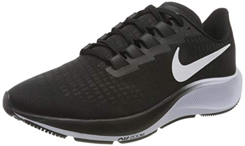 Nike Women's AIR Zoom Pegasus 37 Road Running Shoe, Black/White, 8 UK