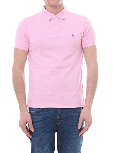 POLO RALPH LAUREN Antique pink pique cotton polo shirt, L