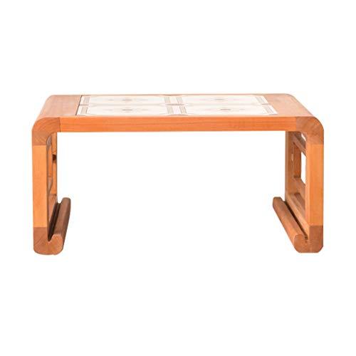 Gartenmöbel Zubehör Kleiner Schreibtisch Kirschholz Rechteck Tisch Balkon Teetisch Tatami Esstisch Kleiner Niedriger Couchtisch Tische (Color : Natural, Size : 54 * 46 * 27cm)