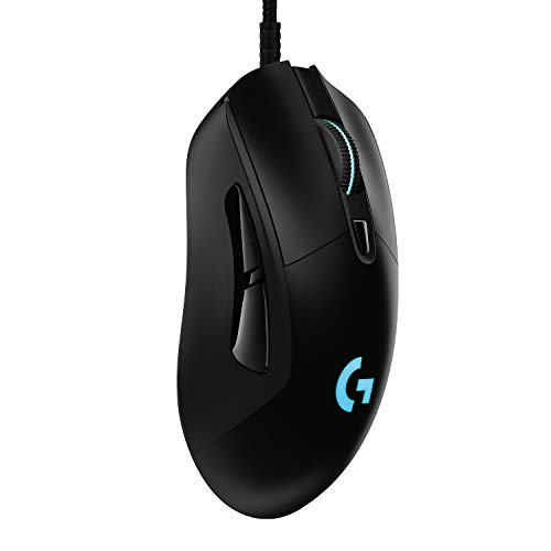Logitech G403 HERO Gaming-Maus mit HERO 25K DPI Sensor, LIGHTSYNC RGB, geringes Gewicht von 87g und optionales 10g Gewicht, geflochtenes Kabel, PC/Mac, Schwarz - 6