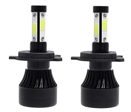 H4 H7 LED Bombillas de faros H11 9005 9006 Cob Chips 72W 12000lm 6500k Coche LED H1 Auto Faro Faro Luz LED 12V 24V (20 pares) (Emitting Color : Black Color, Socket Type : Mix)