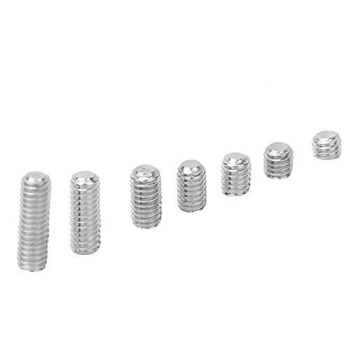 GONNELY 212pcs M-4 Juego de tornillos hexagonales de punta plana de acero inoxidable 304 con llave hexagonal para manijas de puertas, grifos, accesorios de iluminación, etc.