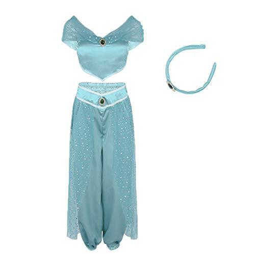 Women Aladdin Jasmine Princess Costumes Fancy...
