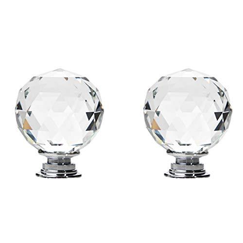 Maniglia per cassetti, 2 pezzi in cristallo a forma di diamante per armadietto, 40 mm