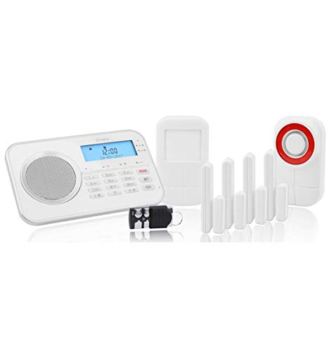 OLYMPIA Protect 9878 GSM Haus Alarmanlage Funk Alarmsystem mit Außensierene und App