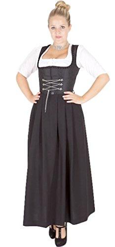 Stoiber 13139 Gastro Waschdirndl schwarz 95er länge Size 42