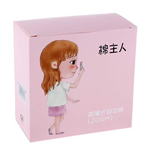Homyl 204pcs / Pack Coton Démaquillant Coton Maquillage pour Femme - Rose
