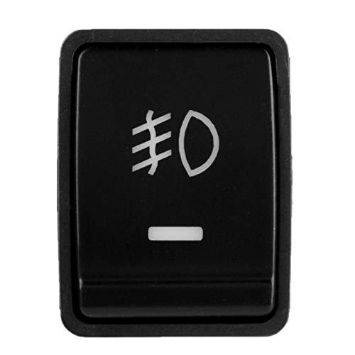Interruptor de botón pulsador de 1 pieza, interruptor de botón pulsador de arnés de 4 polos 12V con luz indicadora de fondo LED