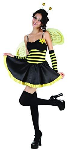 KULTFAKTOR GmbH Sexy Biene Damenkostüm Bienchen schwarz-gelb M/L
