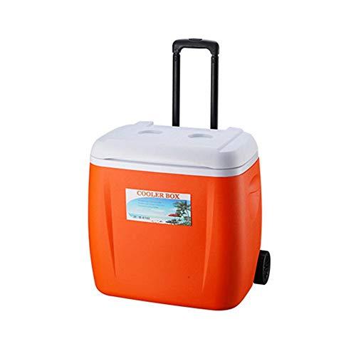 HEIRAO Caja refrigeradora, enfriadora con Ruedas con manija telescópica, Buena para Comida Comida de Picnic Playa Que acampa Viajar, 28 litros